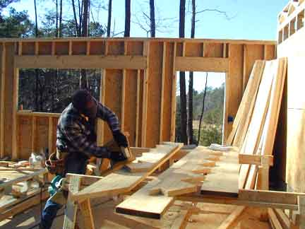 Doug Robinson House Framing Second Floor Joists And