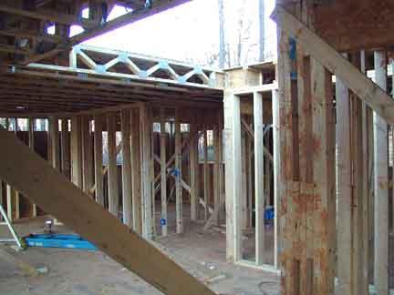 Doug Robinson House Framing Second Floor Joists And