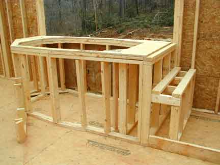 Doug Robinson: House, framing: second floor: tub