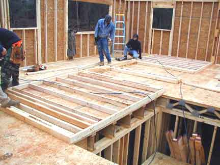 Doug robinson house framing second floor walls for How to frame a two story house