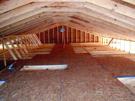 Doug Robinson House Framing Attic