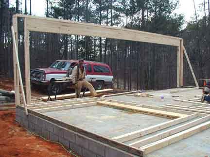 garage door framingDoug Robinson House framing garage