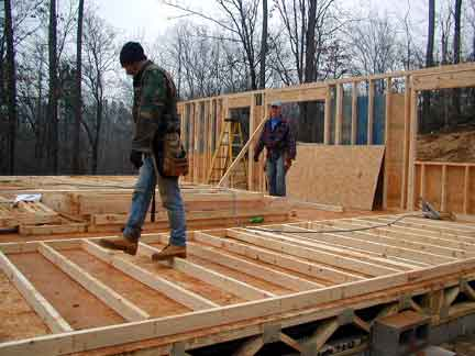 Doug Robinson House Framing First Floor Walls