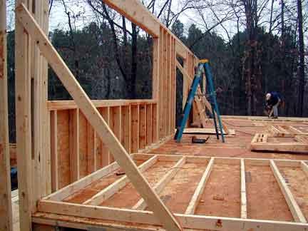 Doug Robinson: House, framing: first floor: walls