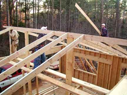 Doug Robinson: House, Framing: Garage: Roof