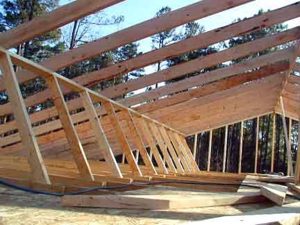 Doug Robinson: House, framing: roof