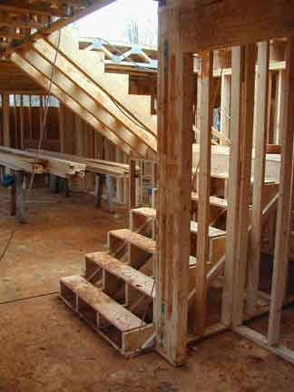 Doug Robinson House Framing Stairs